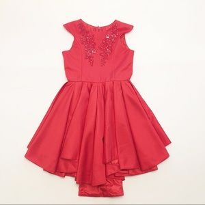 Chasing Fireflies Elegant Red Party Dress (Girl 8)